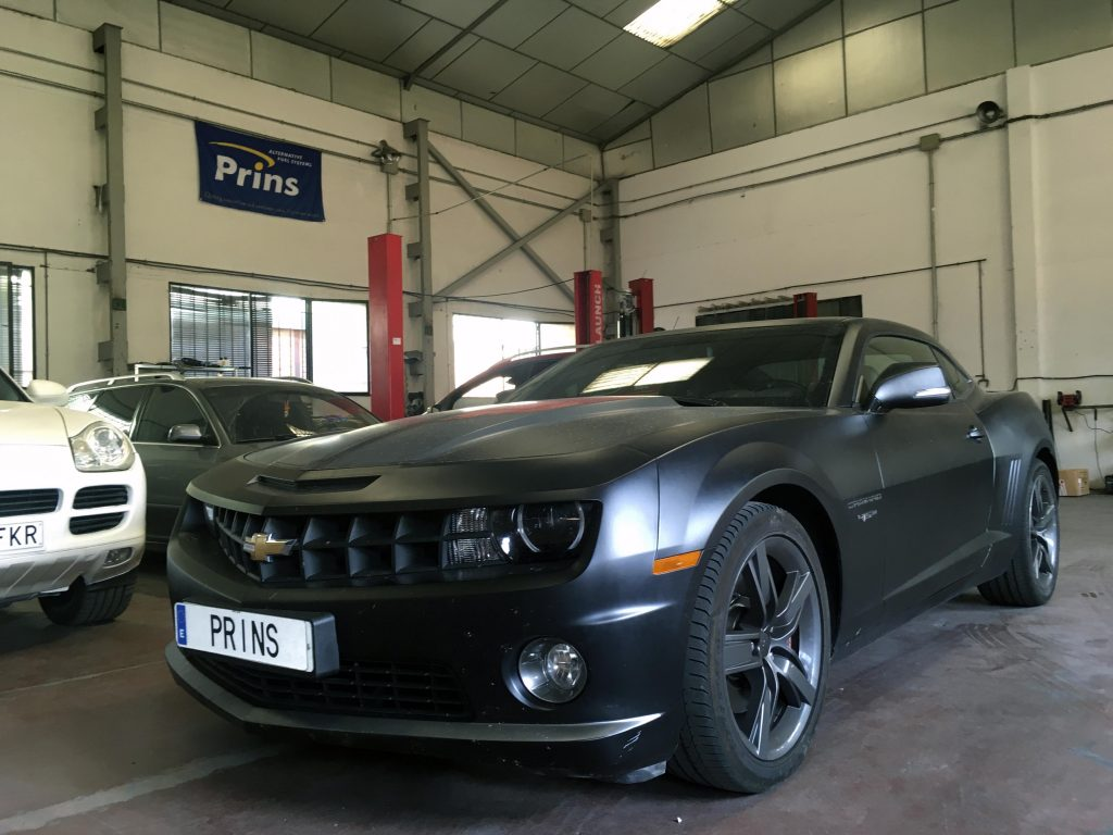 Chevrolet Camaro 6.2 450cv GLP Prins con sistema Valve Care